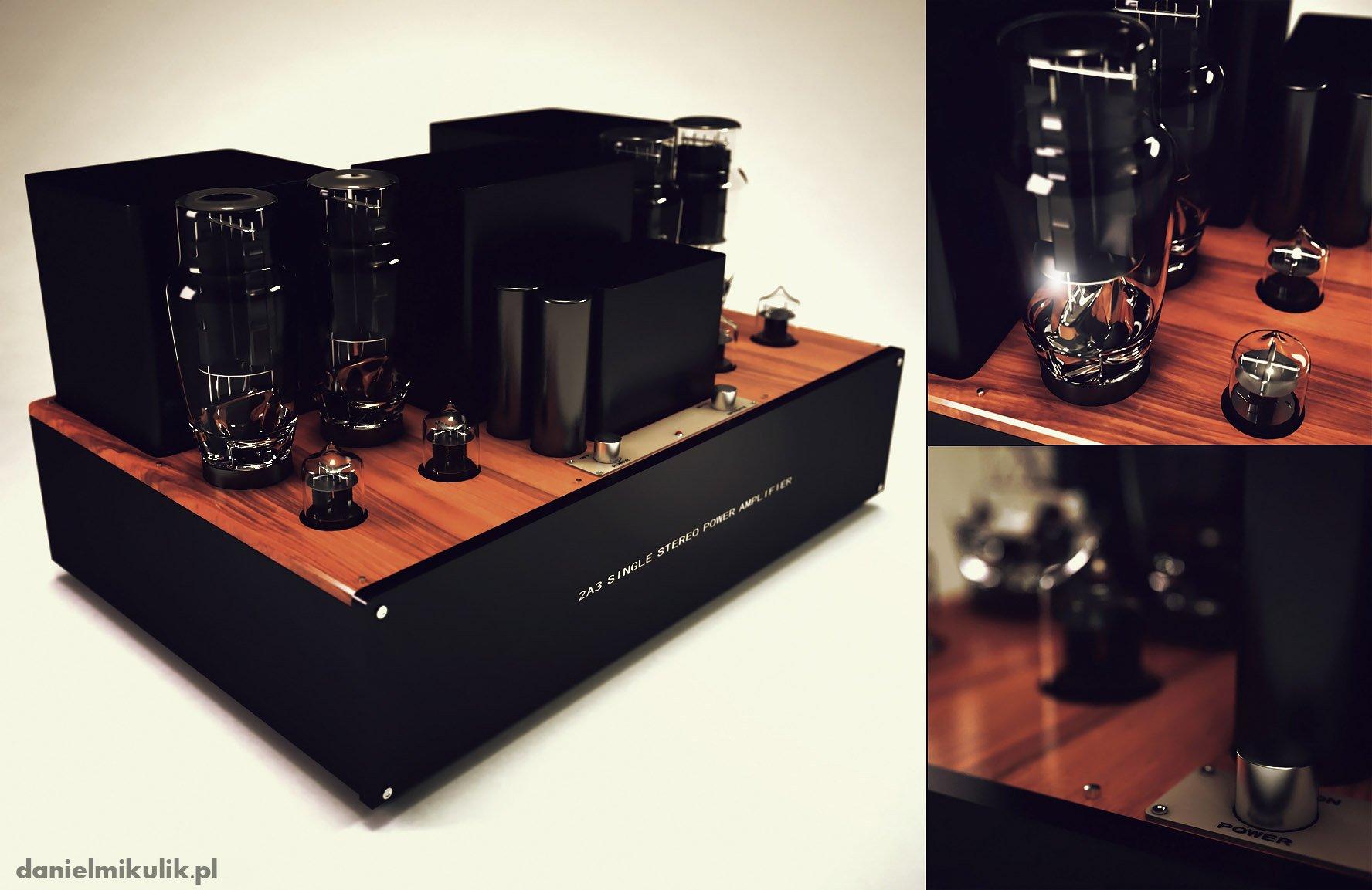 Amplifier 3d model hi poly Daniel Mikulik