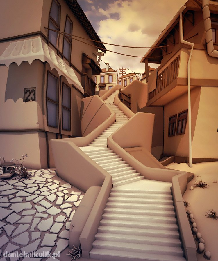 Cartoon Stairs