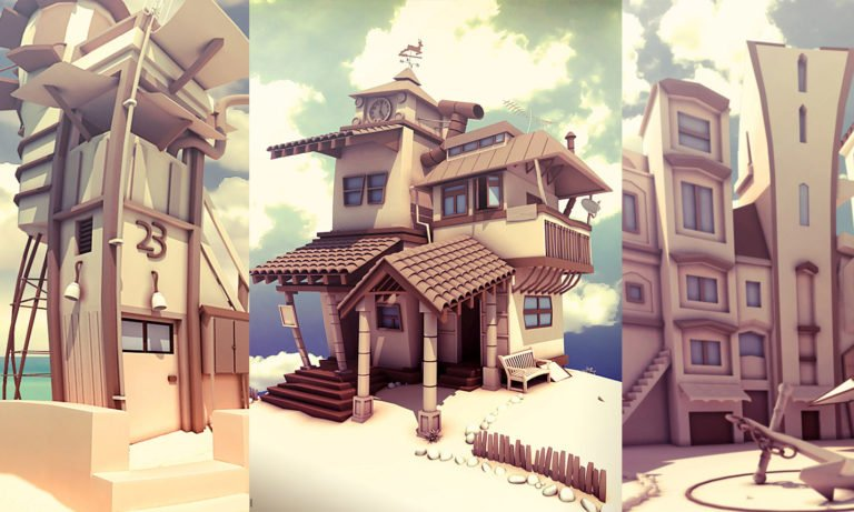 Low Poly Cartoon Architecture
