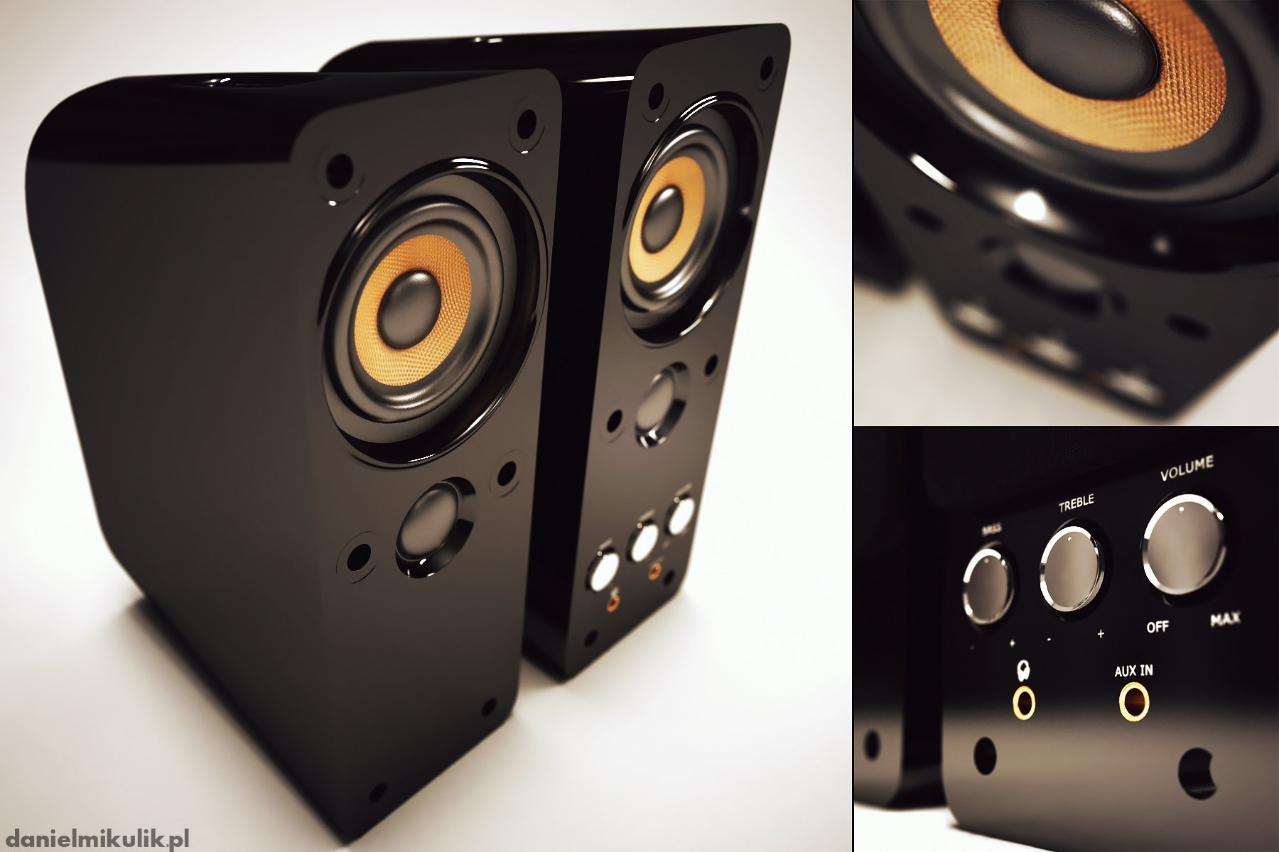 Amplifier 3d model hi poly Daniel Mikulik
