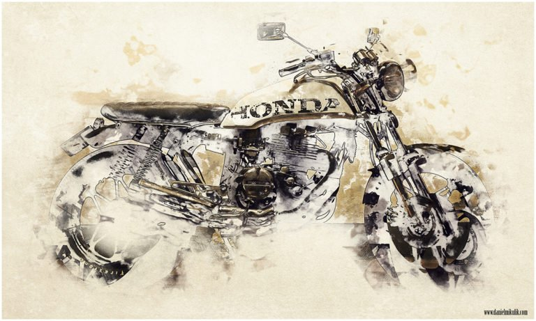 Watercolor Cafe Racer