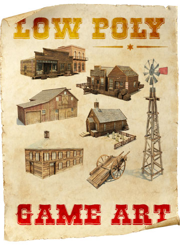 Wild West Game Art Pack