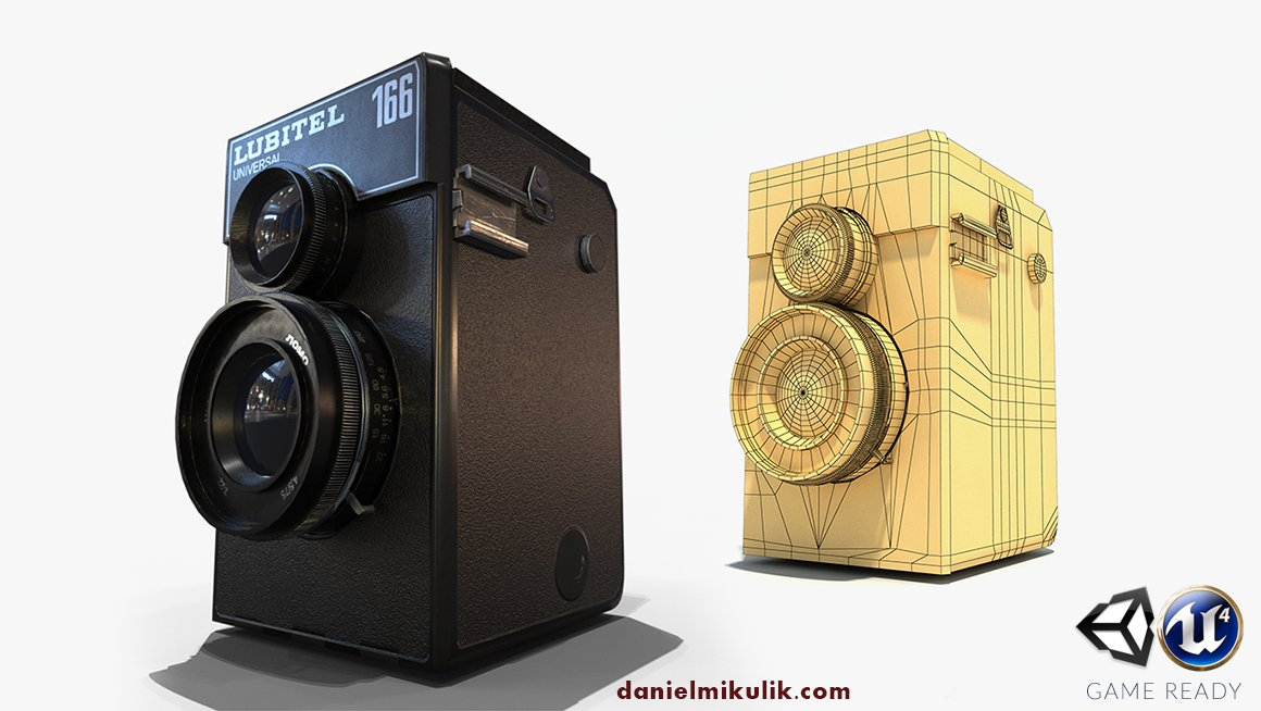 Low Poly Photo Camera