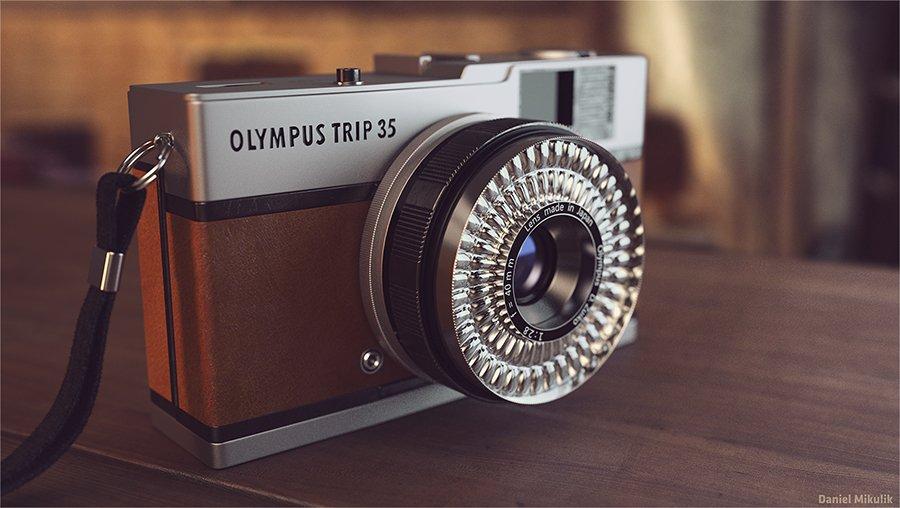 Render Aparatu Fotograficznego Olympus 3d vray high poly