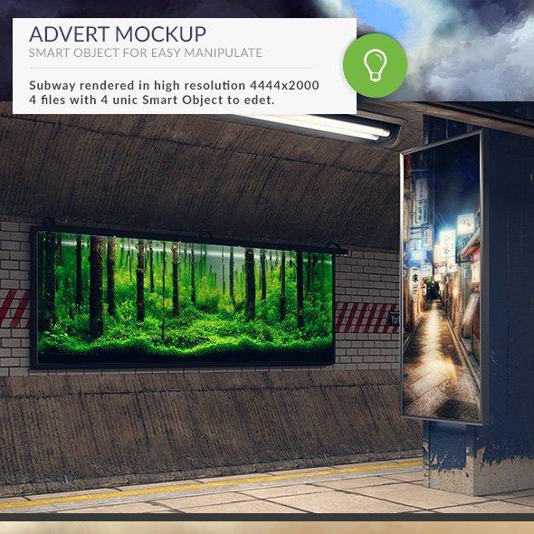 Subway Station Mockups Adverts