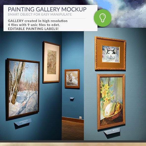 Painting Gallery Mockups