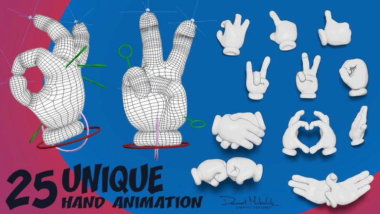25 Cartoon Hand Animation
