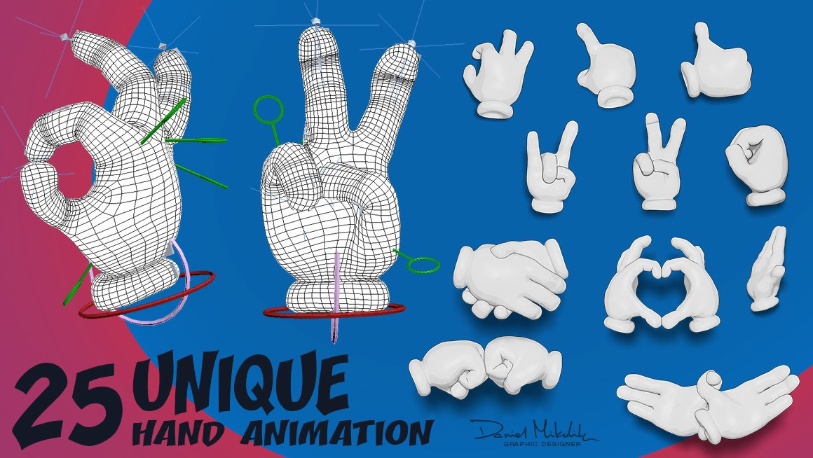 25 Cartoon Hand Animation